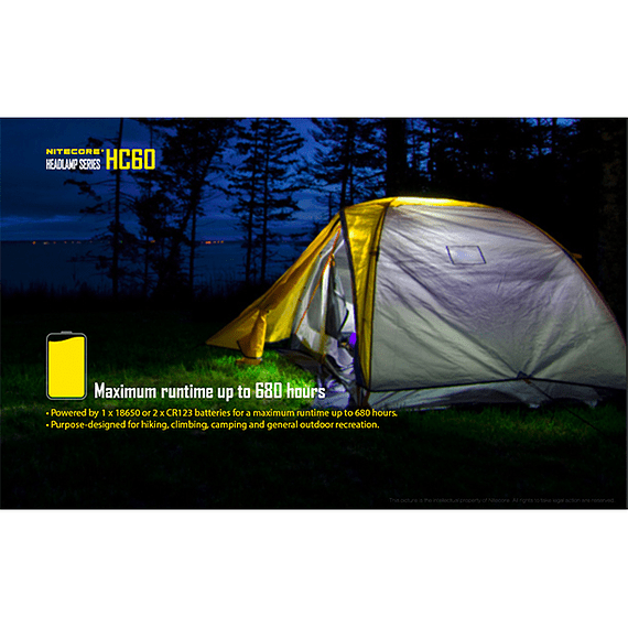 Linterna Frontal LED Nitecore 1000 lúmenes Recargable USB HC60- Image 23