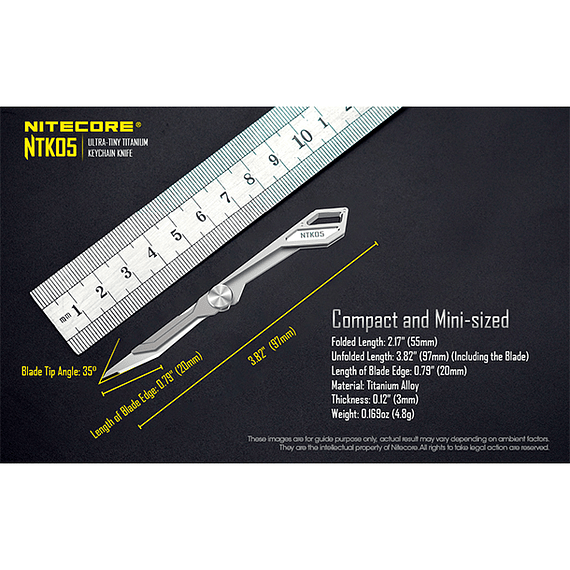 Cuchillo Ultra Compacto Nitecore Titanio NTK05- Image 13