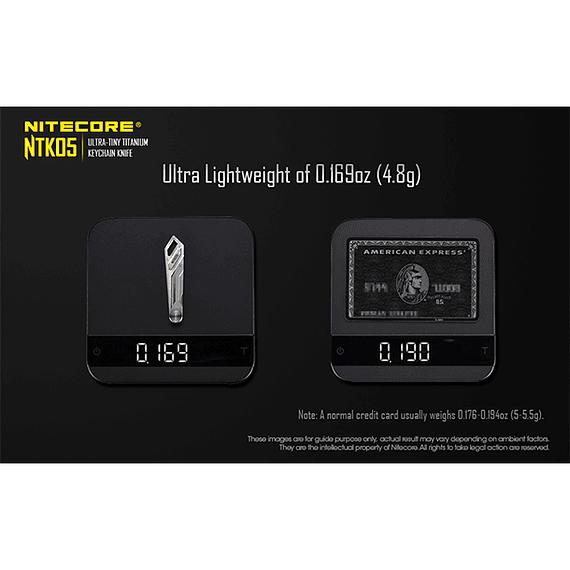 Cuchillo Ultra Compacto Nitecore Titanio NTK05- Image 14