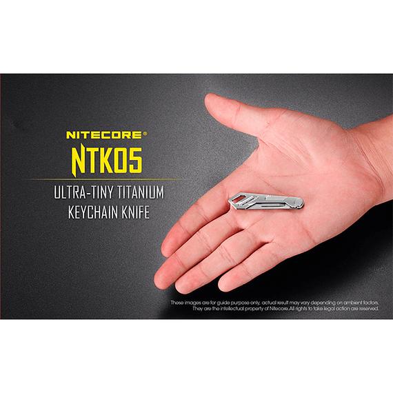 Cuchillo Ultra Compacto Nitecore Titanio NTK05- Image 18