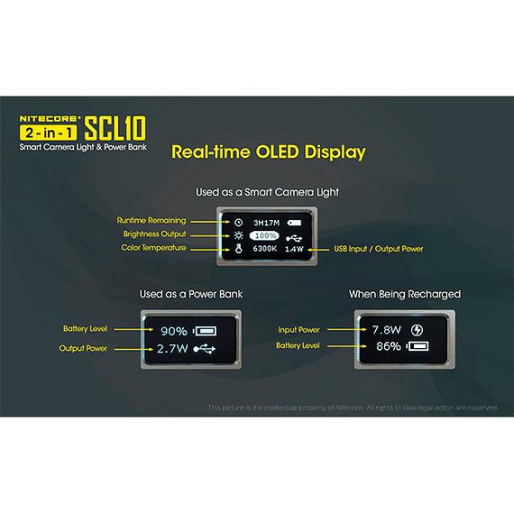 Foco LED y Cargador Nitecore 800 lúmenes SCL10- Image 8