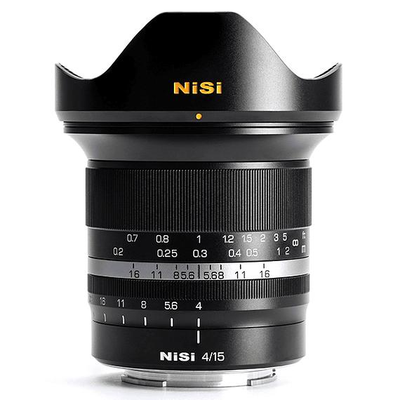 Lente NiSi 15mm f/4 Sunstar Gran Angular ASPH para Fujifilm X- Image 1