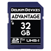 Tarjeta Memoria Delkin Devices 32GB SDHC Advantage 660x UHS-I