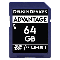 Tarjeta Memoria Delkin Devices 64GB SDHC Advantage 660x UHS-I