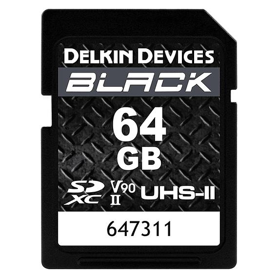 Tarjeta Memoria Delkin Devices 64GB SDXC Black Rugged UHS-II- Image 1