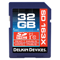 Tarjeta Memoria Delkin Devices 32GB SDHC 163X UHS-I