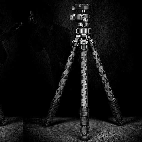 Trípode Carbono Leofoto Mr. Q con Cabezal 4 Sec. LQ-324C- Image 5