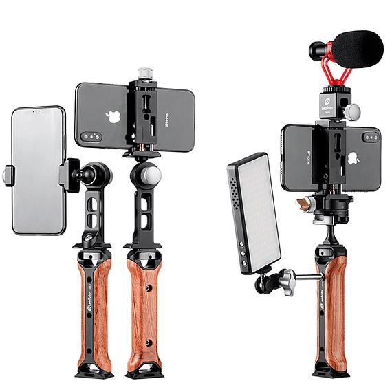 Soporte/Empuñadura Leofoto para Teléfono y Accesorios CH-2- Image 5