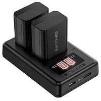 Batería Reemplazo RAVPower Sony NP-FW50 Kit 2x con Cargador USB