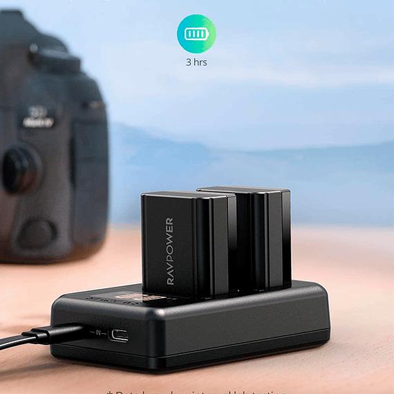 Batería Reemplazo RAVPower Sony NP-FW50 Kit 2x con Cargador USB- Image 2