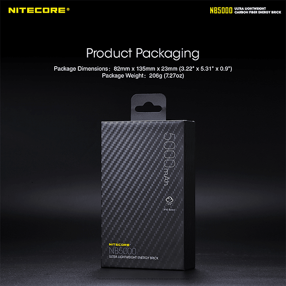 Batería Externa Nitecore Carbono 5000 mAh- Image 6