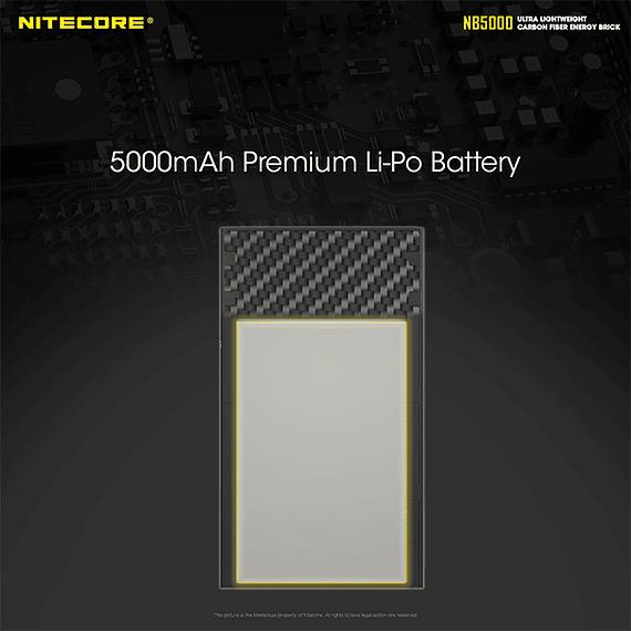 Batería Externa Nitecore Carbono 5000 mAh- Image 12