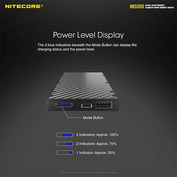 Batería Externa Nitecore Carbono 5000 mAh- Image 14