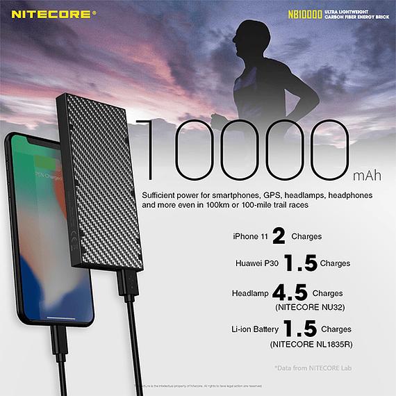 Batería Externa Nitecore Carbono 10000 mAh- Image 14