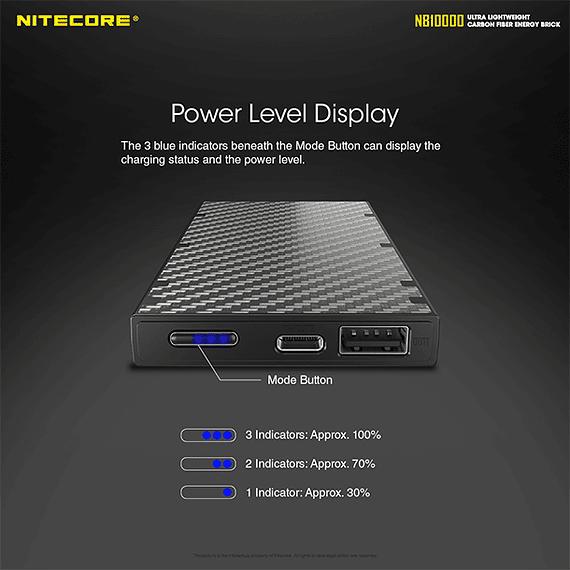 Batería Externa Nitecore Carbono 10000 mAh- Image 15