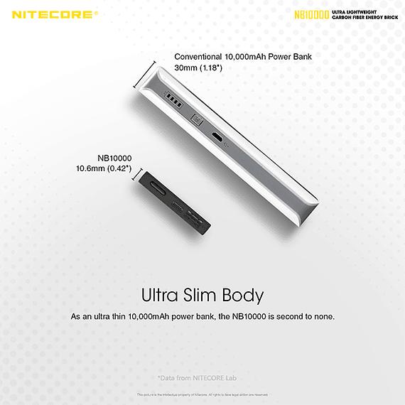 Batería Externa Nitecore Carbono 10000 mAh- Image 21