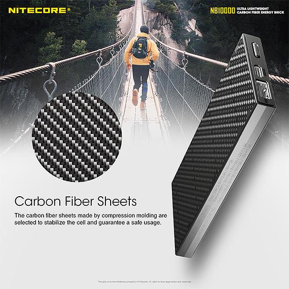 Batería Externa Nitecore Carbono 10000 mAh- Image 22