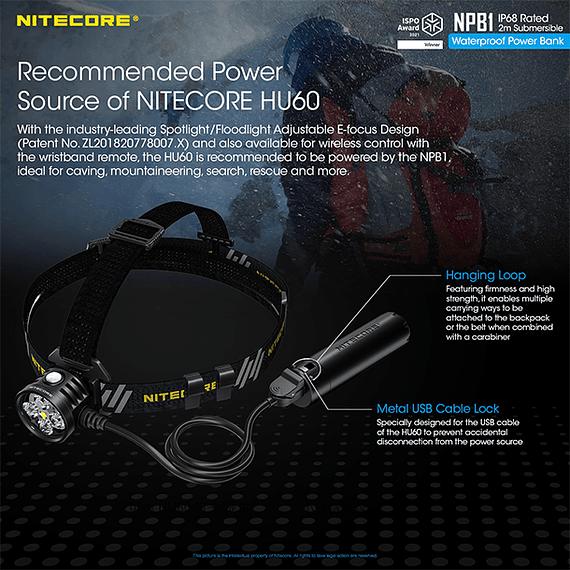 Batería Externa Nitecore 5000 mAh Waterproof- Image 6
