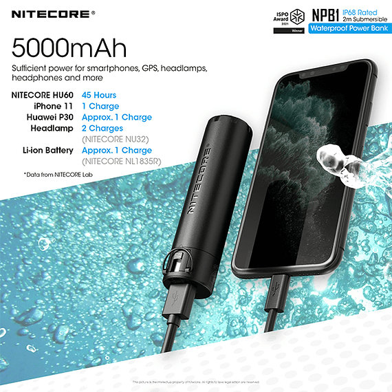 Batería Externa Nitecore 5000 mAh Waterproof- Image 8