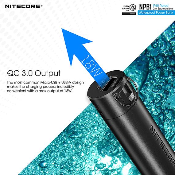 Batería Externa Nitecore 5000 mAh Waterproof- Image 9