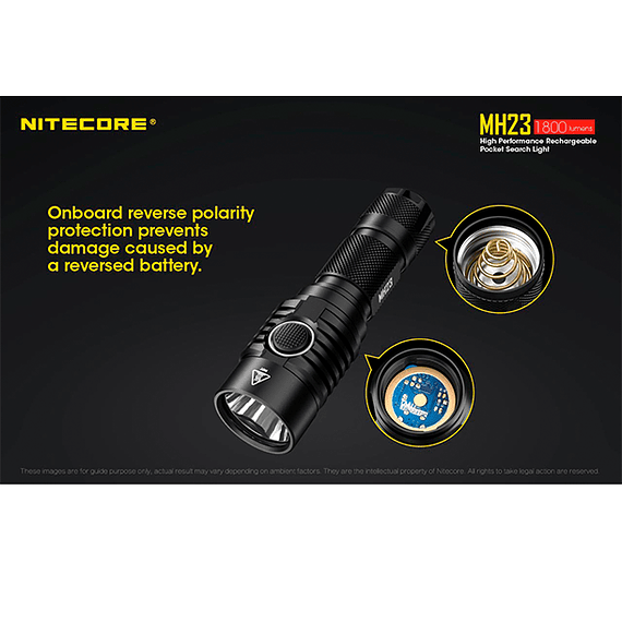 Linterna LED Nitecore 1800 lúmenes Recargable USB MH23- Image 9