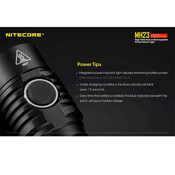 Linterna LED Nitecore 1800 lúmenes Recargable USB MH23- Image 11