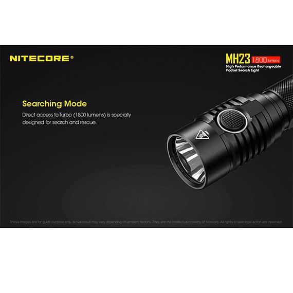 Linterna LED Nitecore 1800 lúmenes Recargable USB MH23- Image 12