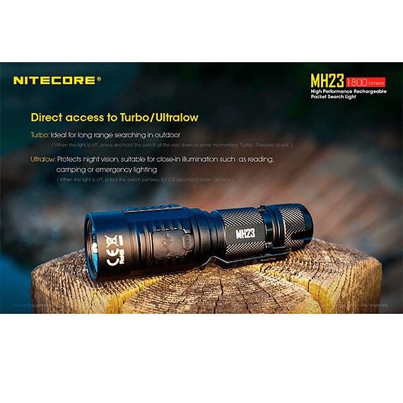 Linterna LED Nitecore 1800 lúmenes Recargable USB MH23- Image 13