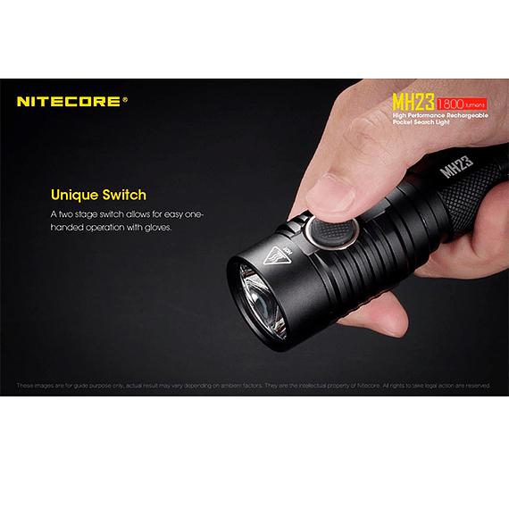 Linterna LED Nitecore 1800 lúmenes Recargable USB MH23- Image 14