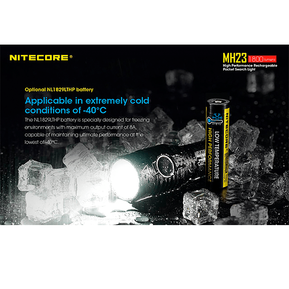 Linterna LED Nitecore 1800 lúmenes Recargable USB MH23- Image 17