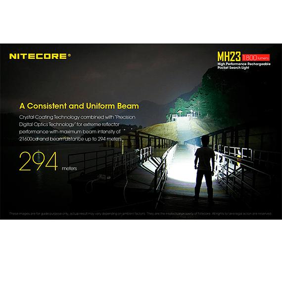 Linterna LED Nitecore 1800 lúmenes Recargable USB MH23- Image 21