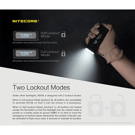 Linterna LED Nitecore 10000 lúmenes Recargable USB TM10K- Image 8