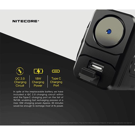 Linterna LED Nitecore 10000 lúmenes Recargable USB TM10K- Image 10