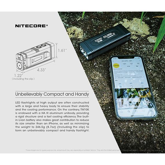 Linterna LED Nitecore 10000 lúmenes Recargable USB TM10K- Image 11