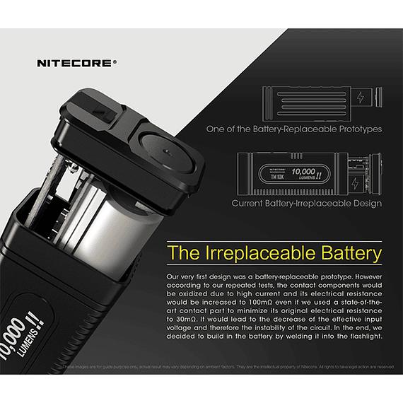Linterna LED Nitecore 10000 lúmenes Recargable USB TM10K- Image 12