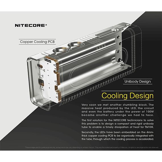 Linterna LED Nitecore 10000 lúmenes Recargable USB TM10K- Image 14