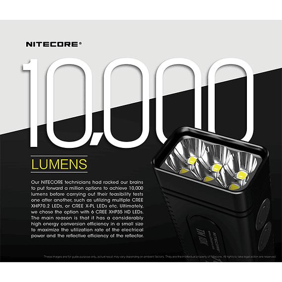 Linterna LED Nitecore 10000 lúmenes Recargable USB TM10K- Image 17