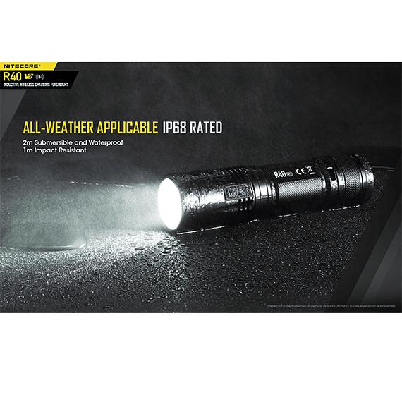 Linterna LED Nitecore 1000 lúmenes Recargable USB R40 V2- Image 8