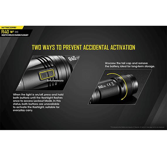 Linterna LED Nitecore 1000 lúmenes Recargable USB R40 V2- Image 9