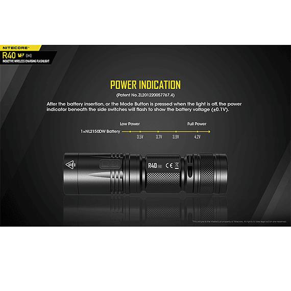 Linterna LED Nitecore 1000 lúmenes Recargable USB R40 V2- Image 13