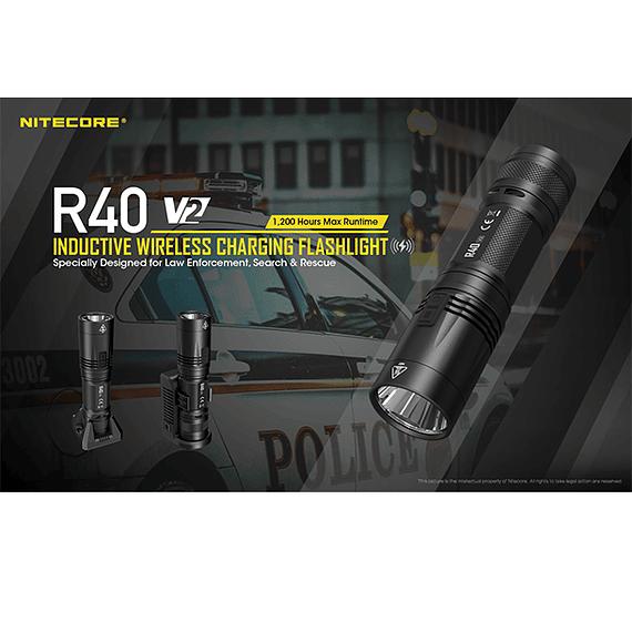 Linterna LED Nitecore 1000 lúmenes Recargable USB R40 V2- Image 22