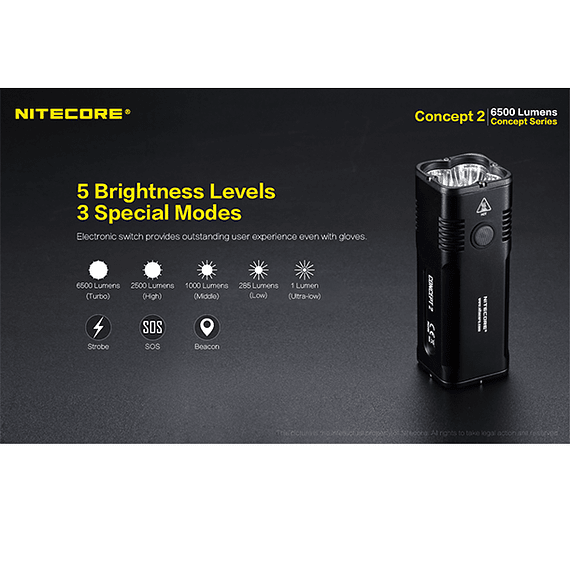 Linterna LED Nitecore 6500 lúmenes Recargable Concept 2- Image 15