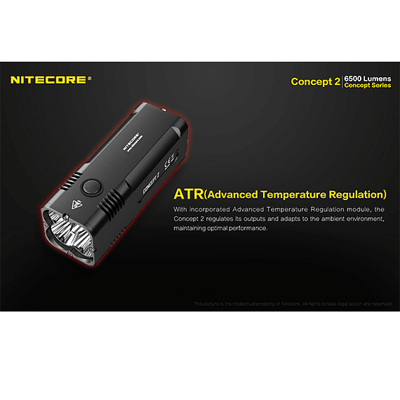 Linterna LED Nitecore 6500 lúmenes Recargable Concept 2- Image 17