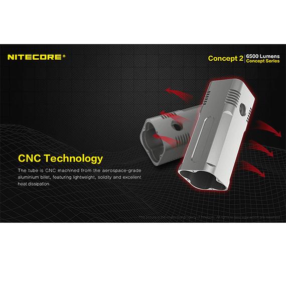 Linterna LED Nitecore 6500 lúmenes Recargable Concept 2- Image 18