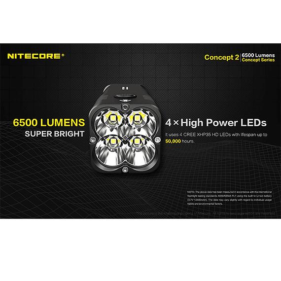 Linterna LED Nitecore 6500 lúmenes Recargable Concept 2- Image 22