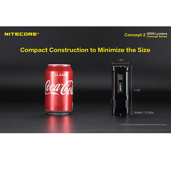 Linterna LED Nitecore 6500 lúmenes Recargable Concept 2- Image 23