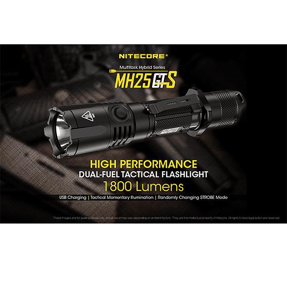 Linterna LED Nitecore 1800 lúmenes Recargable USB MH25GTS- Image 4