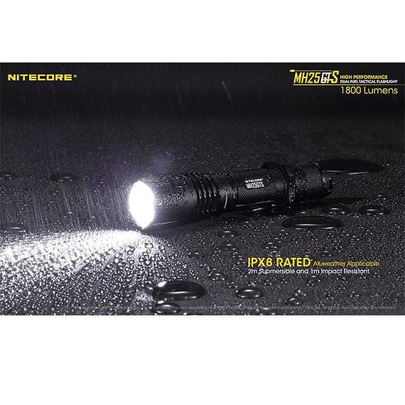 Linterna LED Nitecore 1800 lúmenes Recargable USB MH25GTS- Image 7