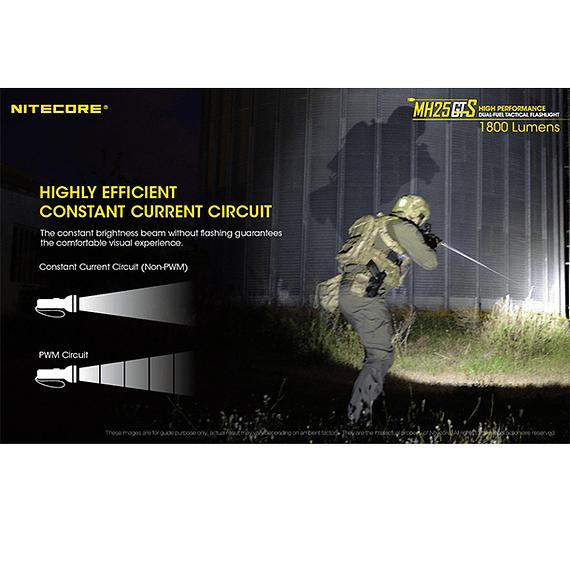 Linterna LED Nitecore 1800 lúmenes Recargable USB MH25GTS- Image 11