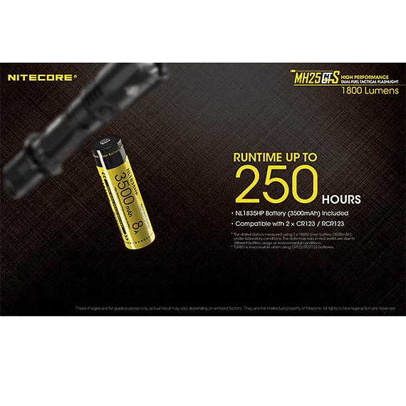 Linterna LED Nitecore 1800 lúmenes Recargable USB MH25GTS- Image 19
